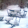 1Schnee Stühle